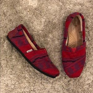 Toms Slip On Loafer with Faux Fur Lining